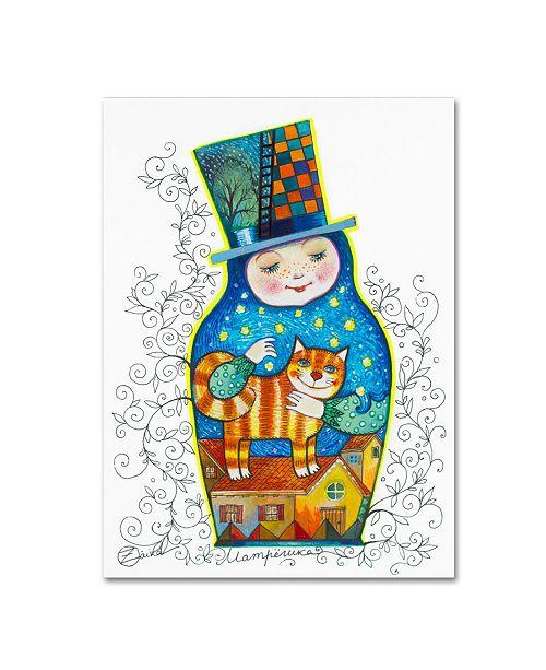 "Trademark Global Oxana Ziaka 'Russian Doll 2' Canvas Art - 19"" x 14"" x 2"""