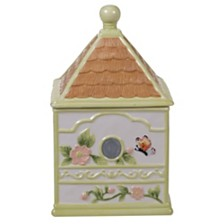 Certified International Spring Meadows 3-D Bird House Cokkie Jar