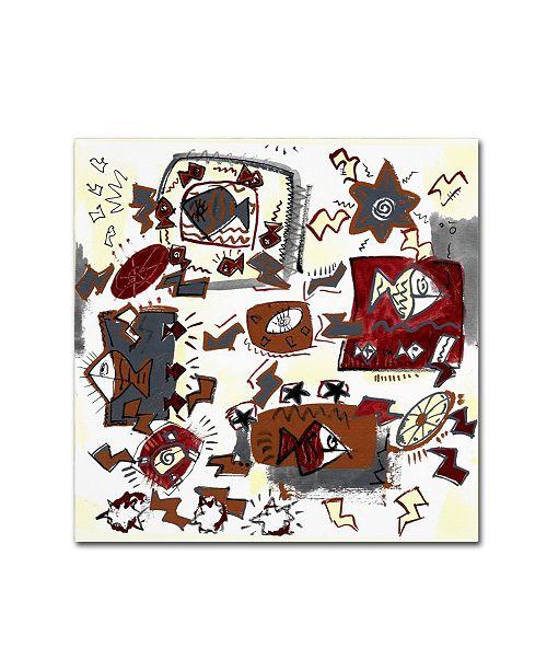 "Trademark Global Miguel Balbas 'Summer II' Canvas Art - 18"" x 18"" x 2"""