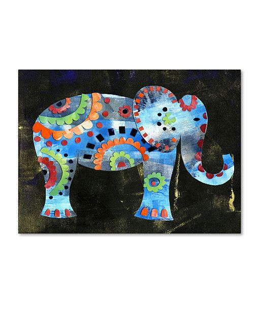 "Trademark Global Summer Tali Hilty 'Boho Elephant 1' Canvas Art - 32"" x 24"" x 2"""