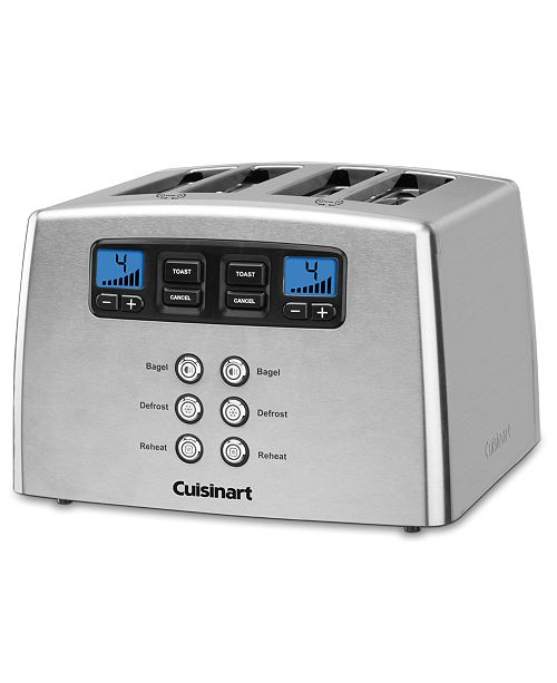 toaster dp stainless slice amazon com brushed cuisinart classic metal cpt