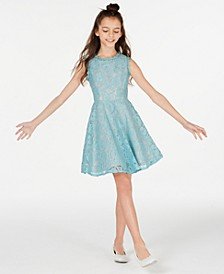 Big Girls Scalloped Lace Fit & Flare Dress