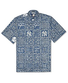 Authentic MLB Apparel Men's New York Yankees Lahaina Print Shirt