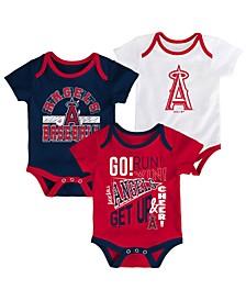 Baby Los Angeles Angels Newest Rookie 3 Piece Bodysuit Set