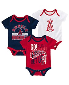 Outerstuff Baby Los Angeles Angels Newest Rookie 3 Piece Bodysuit Set