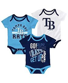 Baby Tampa Bay Rays Newest Rookie 3 Piece Bodysuit Set
