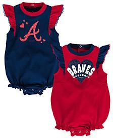 Baby Atlanta Braves Double Trouble Bodysuit Set