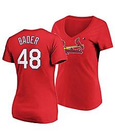 Women's Harrison Bader St. Louis Cardinals Crew Player T-Shirt