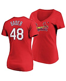 Majestic Women's Harrison Bader St. Louis Cardinals Crew Player T-Shirt
