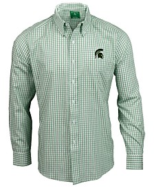 Antigua Men's Michigan State Spartans Rank Button Up Shirt