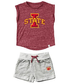 Colosseum Baby Iowa State Cyclones Cuffed T-Shirt and Short Set