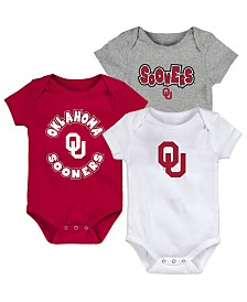 Outerstuff Baby Oklahoma Sooners Everyday Fan 3 Piece Creeper Set