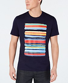 Men's Paint Stripe Graphic T-Shirt, Created for Macy's