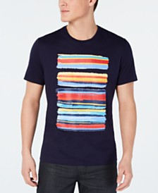 Alfani Men's Paint Stripe Graphic T-Shirt, Created for Macy's
