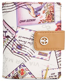 Giani Bernini Canvas Postcard Passport Wallet, Created for Macy's