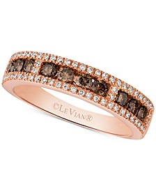 Chocolatier® Diamond Band (5/8 ct. t.w.) in 14k Rose Gold