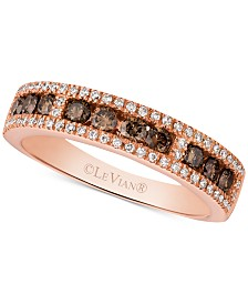 Le Vian Chocolatier® Diamond Band (5/8 ct. t.w.) in 14k Rose Gold