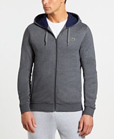 4a548edc849 Lacoste Men s Classic-Fit Jersey Hoodie   Reviews - Hoodies ...