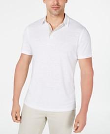 Alfani Men's Regular-Fit Linen-Blend Polo Shirt, Created for Macy's