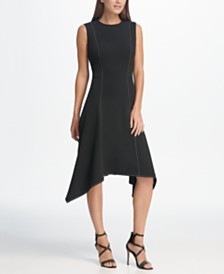 DKNY Handkerchief Hem A-Line Dress