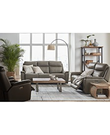 Goodwick Leather Sofa Collection, Created for Macy's