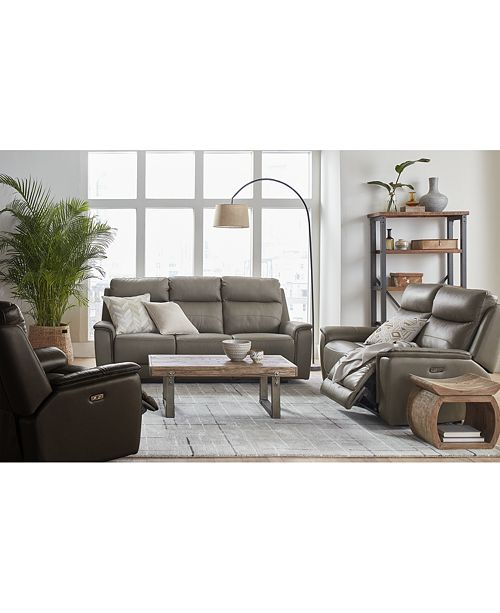 Marvelous Goodwick Leather Sofa Collection Created For Macys Onthecornerstone Fun Painted Chair Ideas Images Onthecornerstoneorg