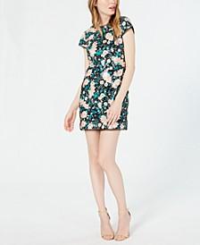 Sonia Embellished Floral Mini Dress