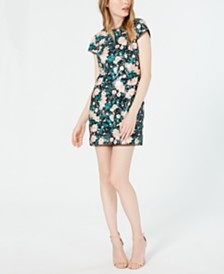 Rachel Zoe Sonia Embellished Floral Mini Dress