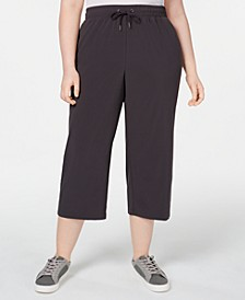 Plus Size Recycled Woven Wide-Leg Pants, Created for Macy's