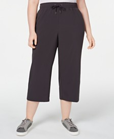 Ideology Plus Size Recycled Woven Wide-Leg Pants, Created for Macy's