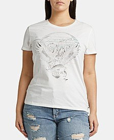 Trendy Plus Size Cotton Graphic-Print T-Shirt