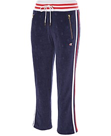 Slim Varsity-Stripe Warm-Up Pants