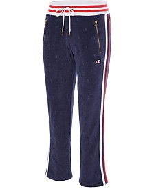 Champion Slim Varsity-Stripe Warm-Up Pants