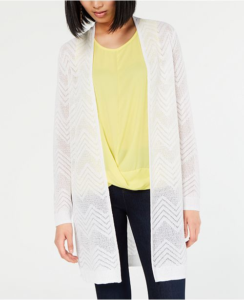 INC International Concepts I.N.C. Zigzag Chevron Cozy Cardigan, Created for Macy's