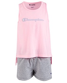 Little Girls 2-Pc. Graphic-Print Tank Top & Shorts Set