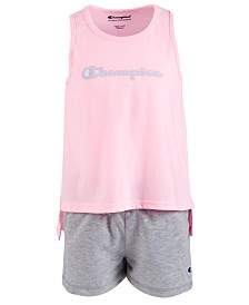 Champion Toddler Girls 2-Pc. Graphic-Print Tank Top & Shorts Set
