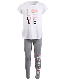 Ideology Little Girls 2-Pc. Graphic-Print T-Shirt & Leggings Set, Created for Macy's