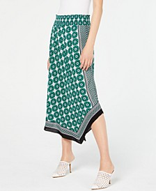 INC Printed Asymmetrical Skirt, Created for Macy's
