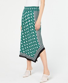 I.N.C. Printed Asymmetrical Skirt, Created for Macy's