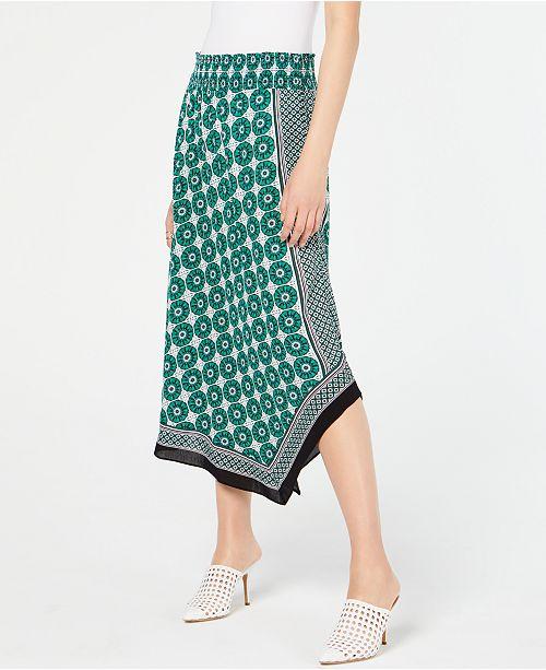 INC International Concepts INC Printed Asymmetrical Skirt, Created for Macy's