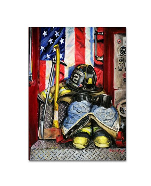 "Trademark Innovations Paul Walsh 'Symbols Of Heroism' Canvas Art - 32"" x 24"" x 2"""