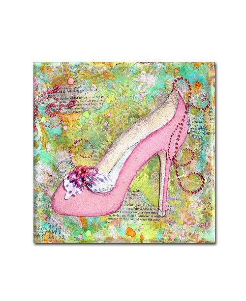 "Trademark Global Janelle Nichol 'Garden Party' Canvas Art - 35"" x 35"" x 2"""