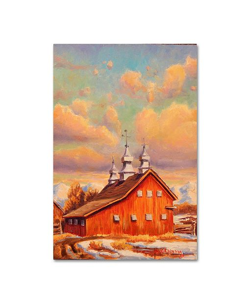 "Trademark Global Wanda Mumm 'Benton Barn' Canvas Art - 24"" x 16"" x 2"""