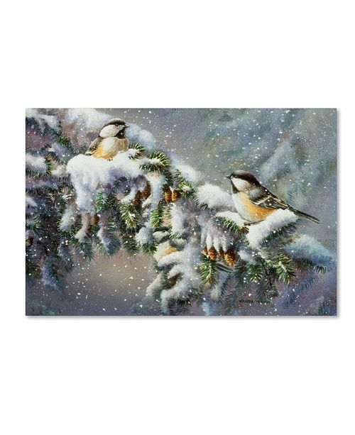 "Trademark Global Wanda Mumm 'Winter Companions' Canvas Art - 47"" x 30"" x 2"""