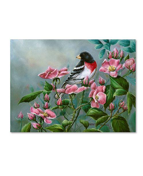 "Trademark Global Wanda Mumm 'The Roses' Canvas Art - 19"" x 14"" x 2"""