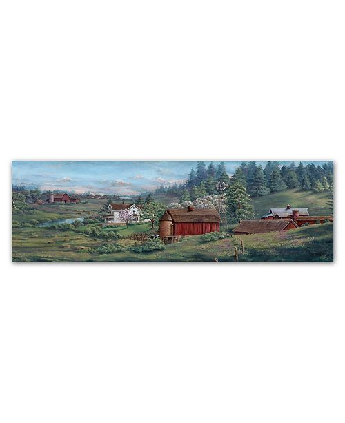 "Trademark Global Wanda Mumm 'Rural Heritage' Canvas Art - 47"" x 16"" x 2"""