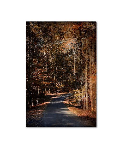 "Trademark Global Jai Johnson 'Sunlit Autumn Path' Canvas Art - 47"" x 30"" x 2"""