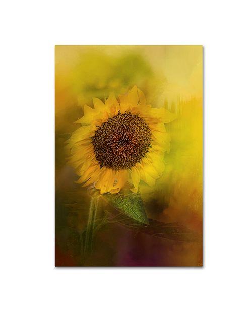 "Trademark Global Jai Johnson 'The Happiest Flower' Canvas Art - 19"" x 12"" x 2"""