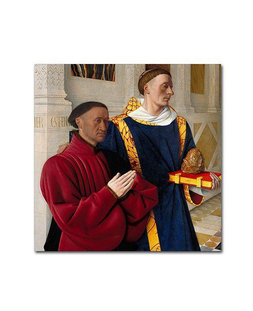 """Trademark Global Jean Fouquet 'Etienne Chevalier With St Stephen' Canvas Art - 14"""" x 14"""" x 2"""""""