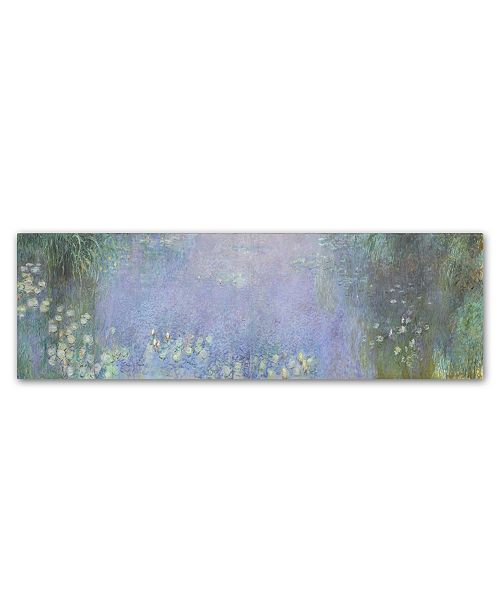 "Trademark Global Monet 'The Water Lillies Morning' Canvas Art - 19"" x 6"" x 2"""